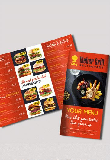 Free Food Menu Restaurant Brochure Template In Psd By Elegantflyer