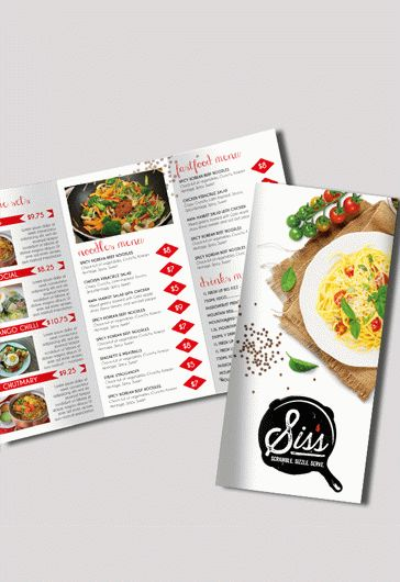 Cafe Menu – Free Bi-Fold Psd Brochure Template Food Menu – By