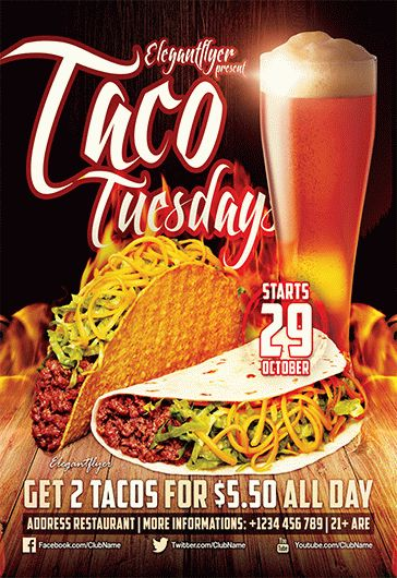 Taco Tuesdays – Flyer PSD Template