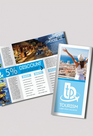 Tourism Free Psd Tri Fold Psd Brochure Template By Elegantflyer