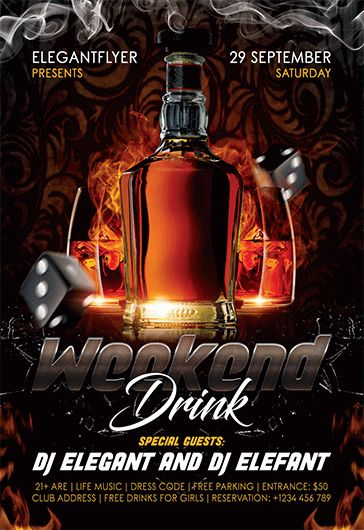 Weekend Drink – Flyer PSD Template