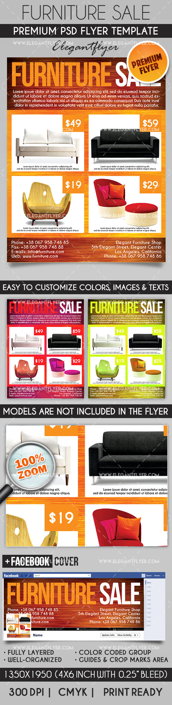 Furniture Sale – Flyer PSD Template
