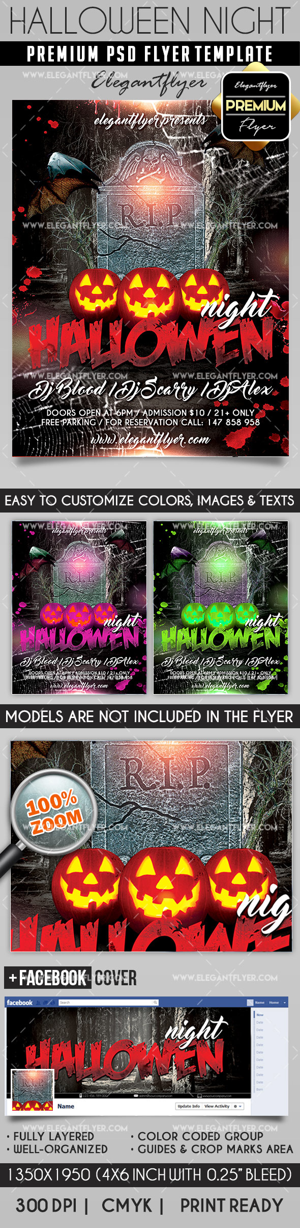 Halloween Night Hour PSD Flyer
