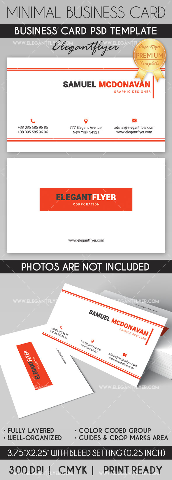 Minimal Corporate – Business Card Templates PSD