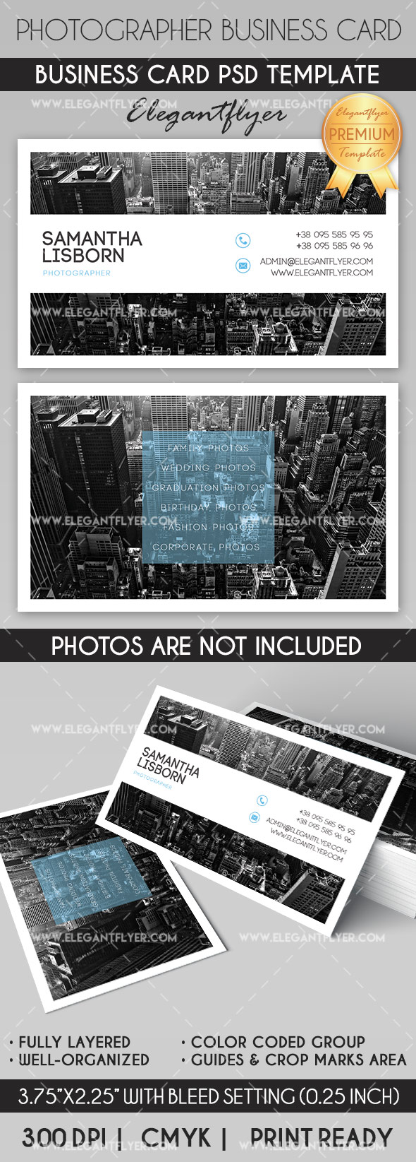 Photographer – Business Card Templates PSD
