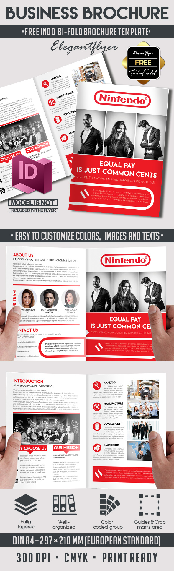 5 powerful free adobe indesign brochures templates - Bi Fold Brochure Template Indesign Free