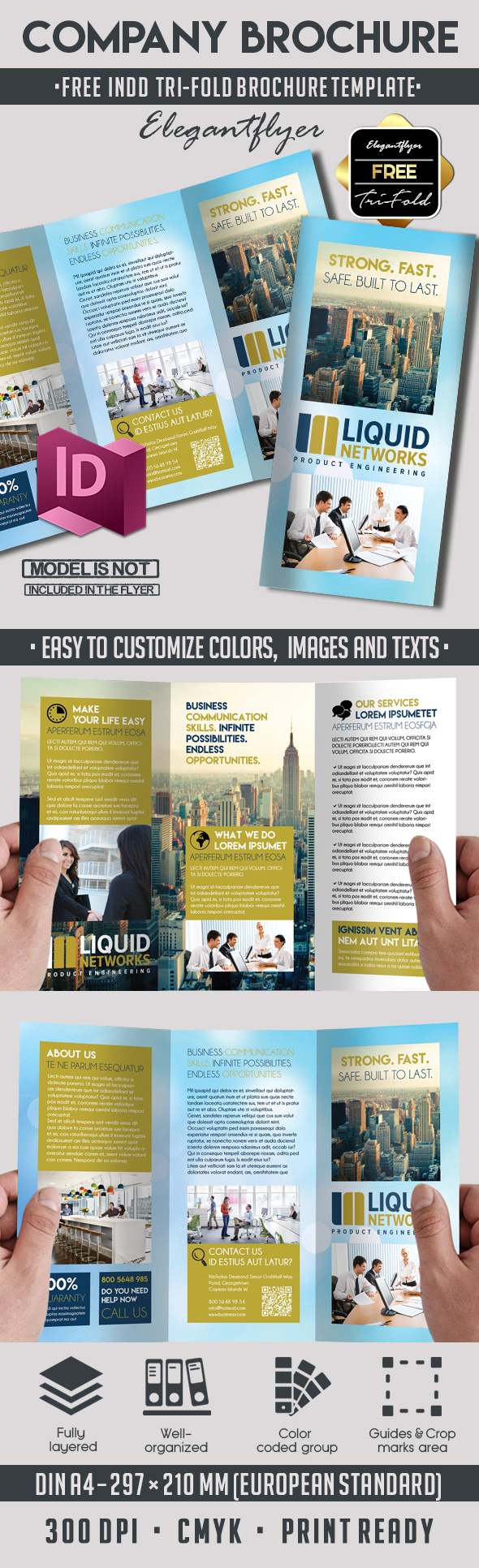 5 powerful free adobe indesign brochures templates by for Free brochure indesign template