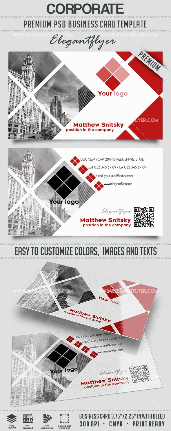 Corporate – Business Card Templates PSD