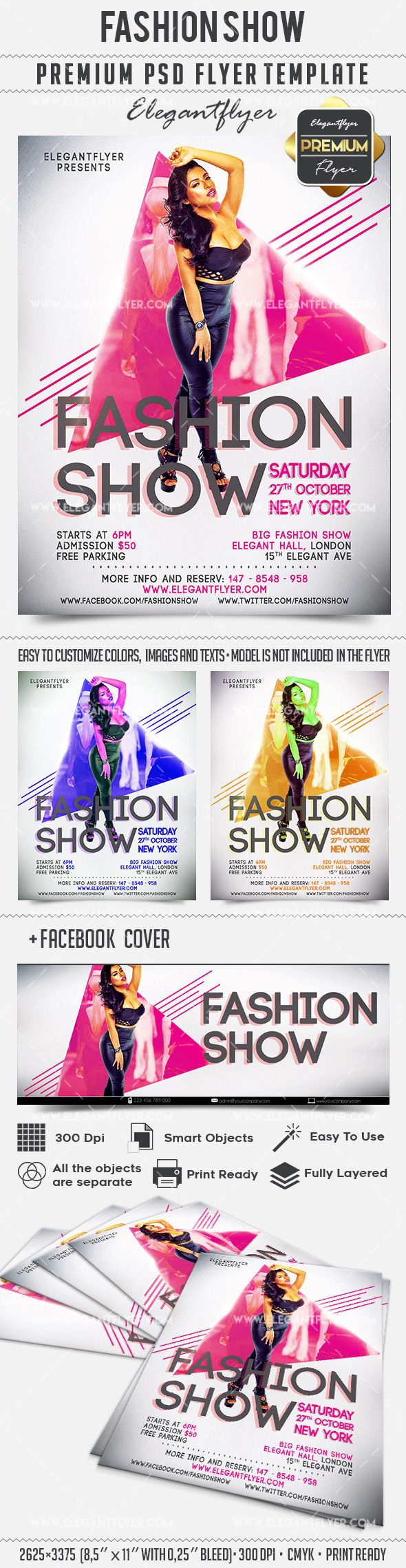 Fashion Show Invitation Flyer Template