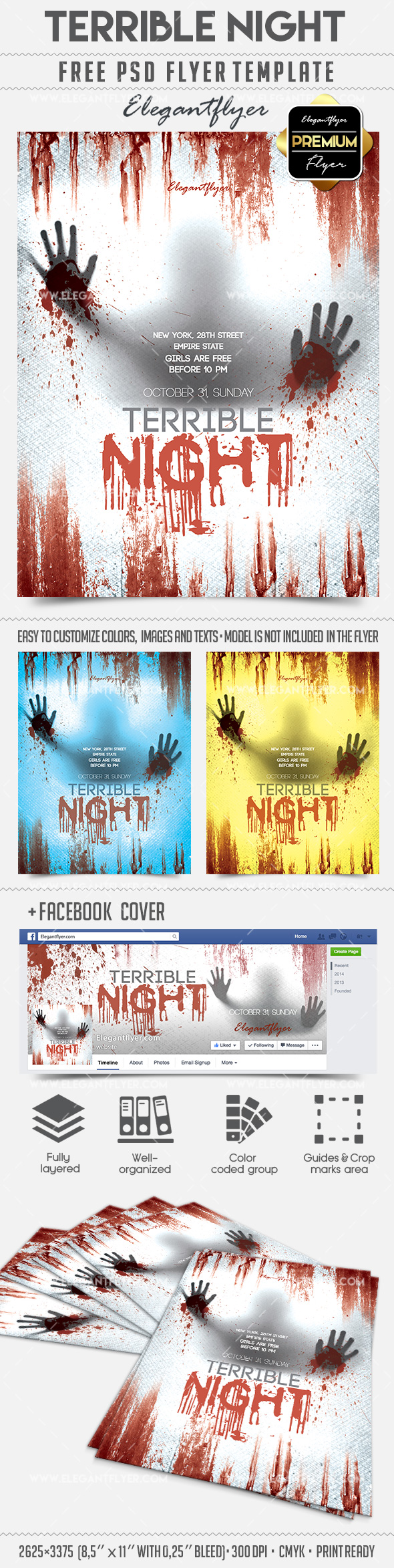 Terrible Night – Flyer PSD Template