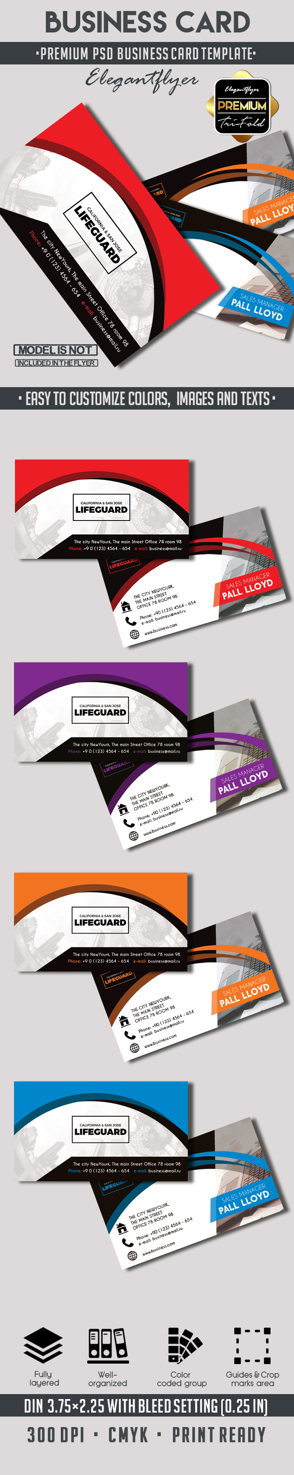 Business – Premium Business card PSD Template