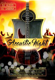 Acoustic Night – Flyer PSD Template + Facebook Cover