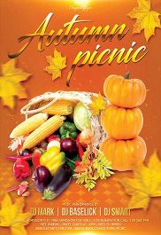 Autumn Picnic – Flyer PSD Template + Facebook Cover