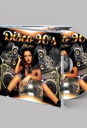 Disco 90's – Premium CD Cover PSD Template