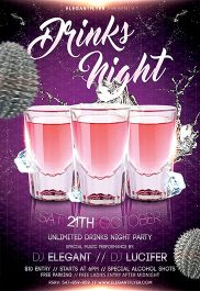 Drinks Night – Flyer PSD Template + Facebook Cover