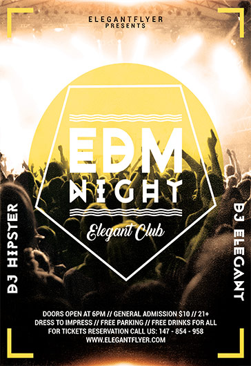 Poster for EDM Night Party