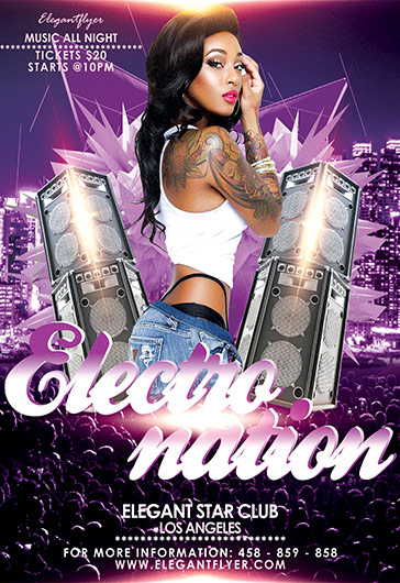 Electro Nation – Flyer PSD Template