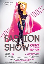 Fashion Show – Flyer PSD Template + Facebook Cover