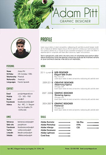 resume designer cv psd templates by elegantflyer