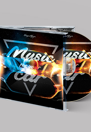 Music for Your Car – Premium CD Cover PSD Template