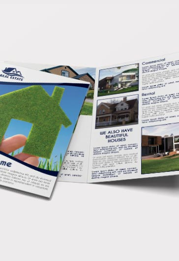 Real Estate – Premium Bi-Fold PSD Brochure Template