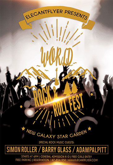 Rock and Roll Fest – Flyer PSD Template