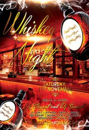 Whiskey Night – Flyer PSD Template + Facebook Cover