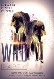 Wild Party – Flyer PSD Template + Facebook Cover