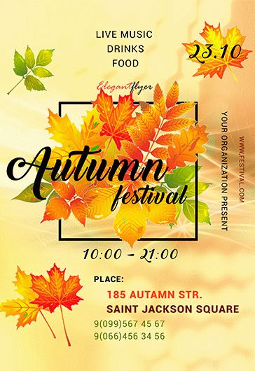 Autumn Fest – Premium PSD Template + Facebook cover