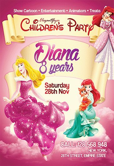 Children's Party V02 – Flyer PSD Template + Facebook Cover