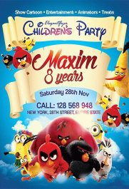 Children's Party – Flyer PSD Template + Facebook Cover
