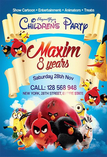 Children's Party – Flyer PSD Template