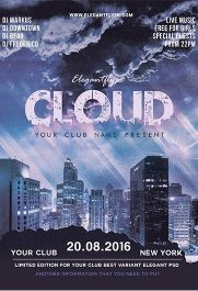Cloud City – Free PSD Template + Facebook cover
