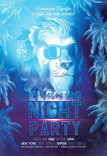 Electro House Party V02 – Flyer PSD Template