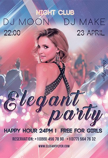 Free party flyer templates for photoshop by elegantflyer elegant party free psd template facebook cover saigontimesfo