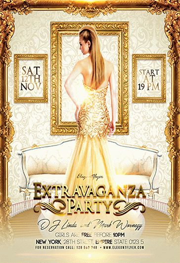 Extravaganza Party – Flyer PSD Template