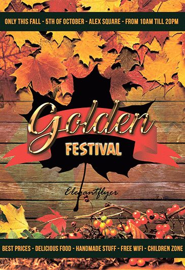 Free Autumn And Fall Festival Flyer Templates | By Elegantflyer