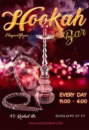 Hookah Bar – Premium PSD Template + Facebook cover