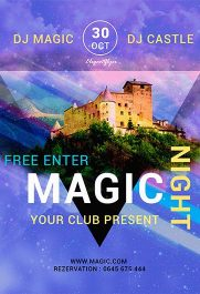 Magic Night – Free PSD Template + Facebook cover
