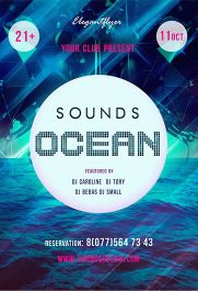 Sounds Ocean – Premium PSD Template + Facebook cover