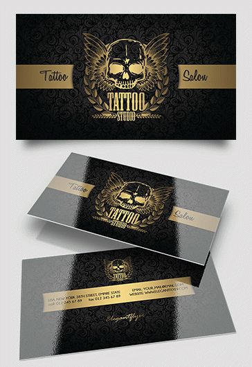 Tattoo Salon – Business Card Templates PSD