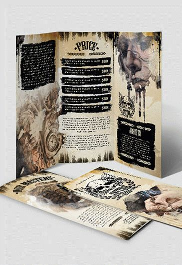 Tattoo Studio Tri-Fold Brochure