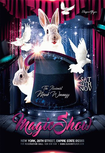 the magic show  u2013 flyer psd template  u2013 by elegantflyer