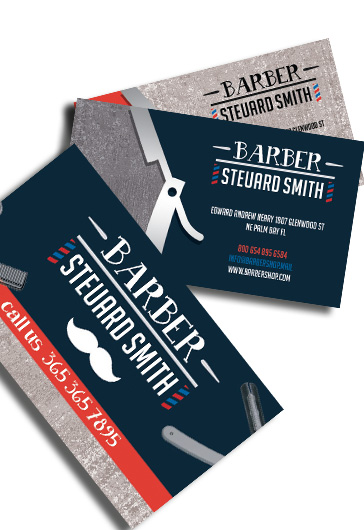 Barber shop premium business card psd template by elegantflyer cheaphphosting Images