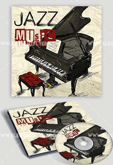 Jazz – Premium CD Cover PSD Template