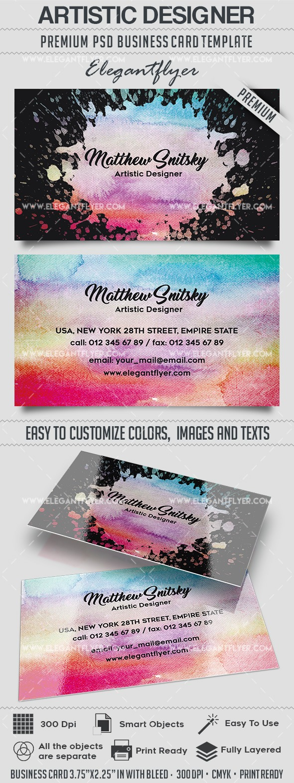 Artistic Designer – Business Card Templates PSD