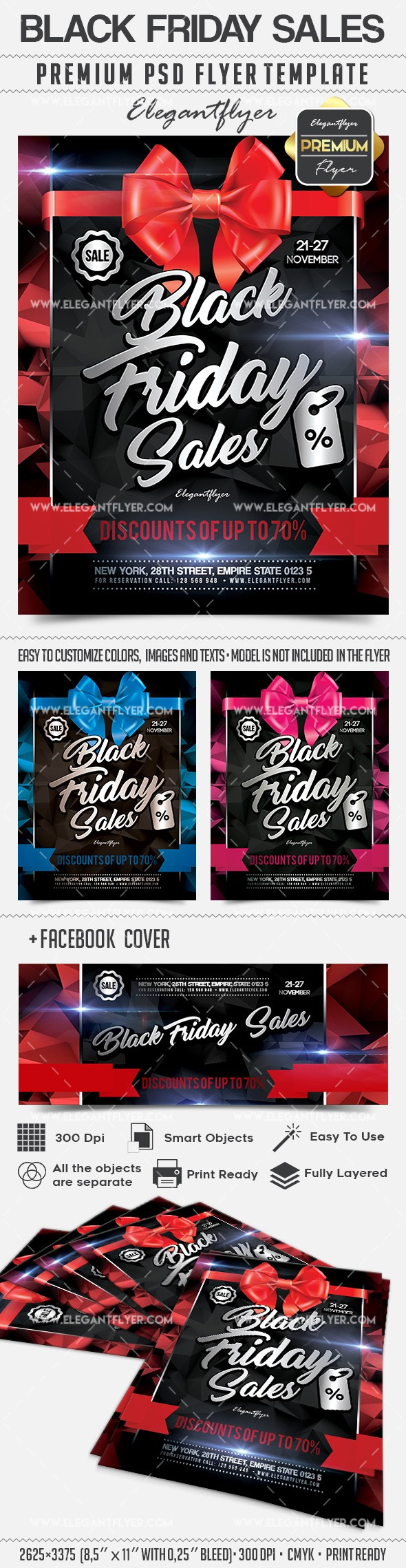 Black Friday Sales – Flyer PSD Template + Facebook Cover