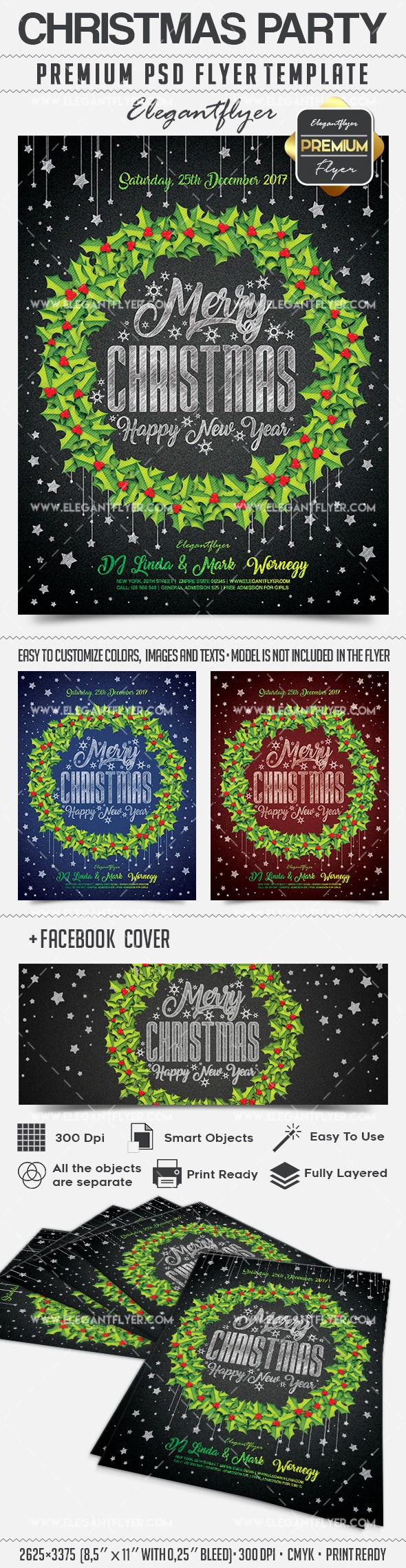 christmas party flyer psd template facebook cover by christmas party flyer psd template facebook cover