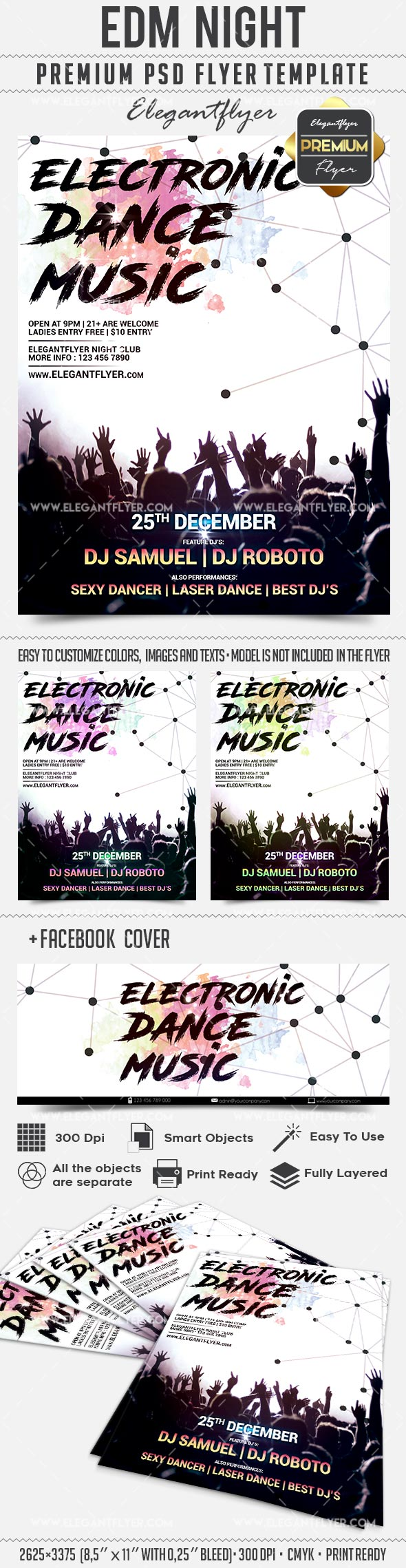 EDM Party – Flyer PSD Template