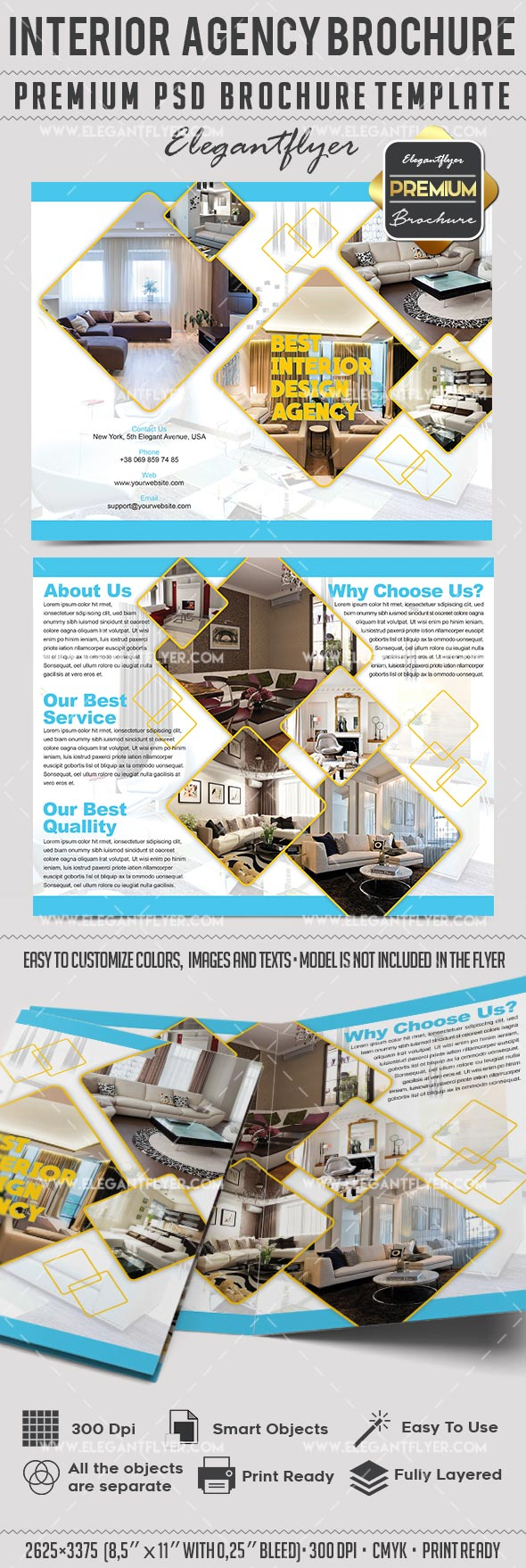 Brochure Template for Interior Agency
